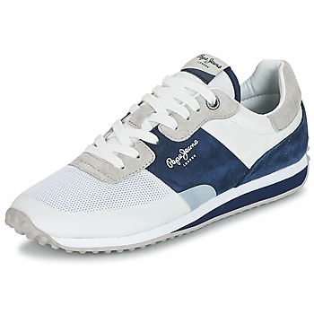 kengät Miehet Matalavartiset tennarit Pepe jeans GARRET SAILOR White / Blue
