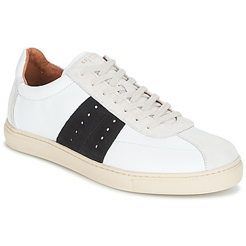 kengät Miehet Matalavartiset tennarit Selected SHNDURAN NEW MIX SNEAKER White / Laivastonsininen