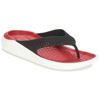 kengät Varvassandaalit Crocs LITERIDE FLIP Black / Red