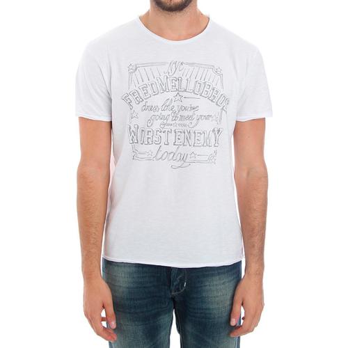 vaatteet Miehet Lyhythihainen t-paita Fred Mello FMCLA99TG_BIANCO Blanco