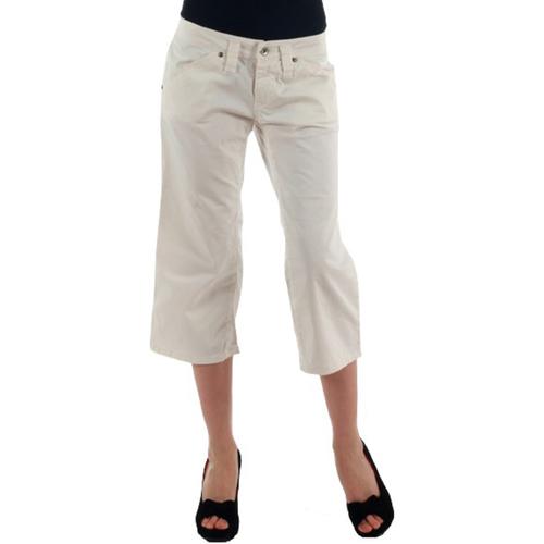 vaatteet Naiset Caprihousut Fornarina FOR00006 Blanco roto