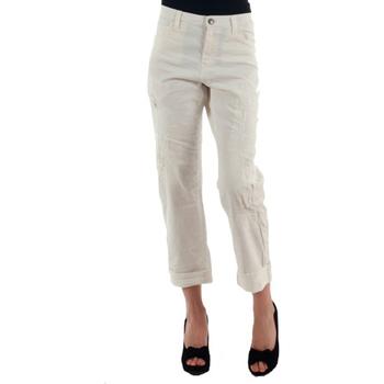 vaatteet Naiset Chino-housut / Porkkanahousut Miss Sixty MIS01030 Blanco roto