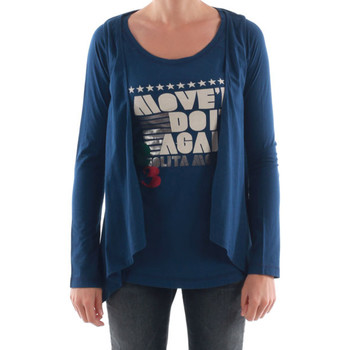 vaatteet Naiset T-paidat pitkillä hihoilla Nolita NOL03089 Azul