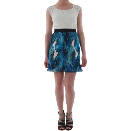 vaatteet Naiset Lyhyt mekko Rinascimento 1276/16M_BLU Blanco