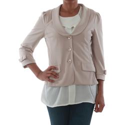 vaatteet Naiset Takit / Bleiserit Rinascimento 1022_BEIGE Beige