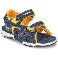 kengät Lapset Sandaalit ja avokkaat Timberland ADVENTURE SEEKER 2-STRAP SANDAL Sininen