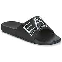 kengät Rantasandaalit Emporio Armani EA7 SEA WORLD VISIBILITY M SLIPPER Black / White