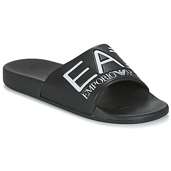 kengät Miehet Rantasandaalit Emporio Armani EA7 SEA WORLD VISIBILITY M SLIPPER Black / White