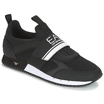 kengät Miehet Matalavartiset tennarit Emporio Armani EA7 BLACK & WHITE U Black