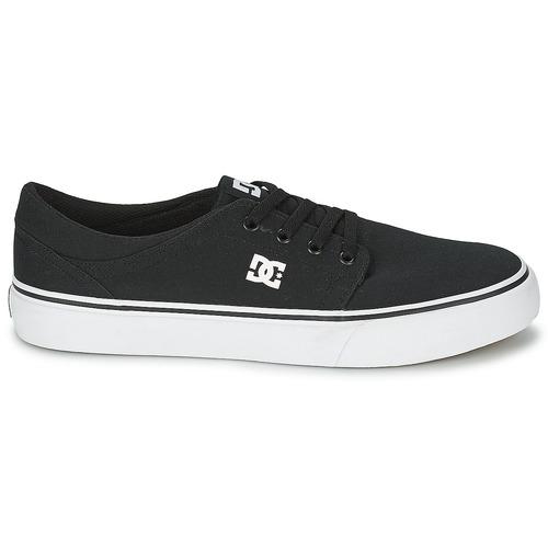 Dc Shoes Trase Tx Men Black / White - Ilmainen Toimitus- Kengät Matalavartiset Tennarit Miehet 43