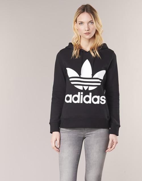 vaatteet Naiset Svetari adidas Originals TREFOIL HOODIE Musta
