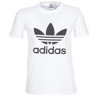 vaatteet Naiset Lyhythihainen t-paita adidas Originals TREFOIL TEE White