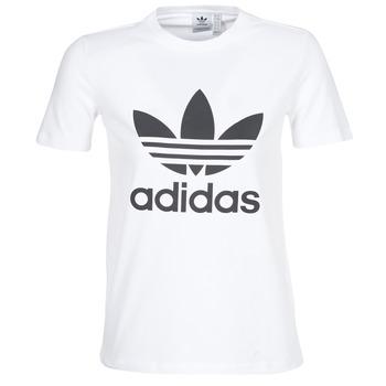factory authentic 703d6 dcf5b vaatteet Naiset Lyhythihainen t-paita adidas Originals TREFOIL TEE White