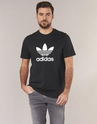 vaatteet Miehet Lyhythihainen t-paita adidas Originals TREFOIL T SHIRT Black