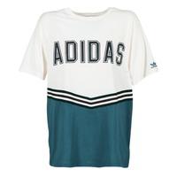 vaatteet Naiset Lyhythihainen t-paita adidas Originals ADIBREAK SS TEE White / Laivastonsininen