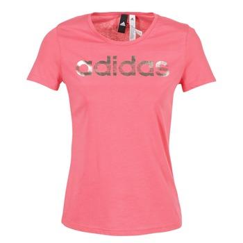 vaatteet Naiset Lyhythihainen t-paita adidas Performance FOIL LINEAR Pink