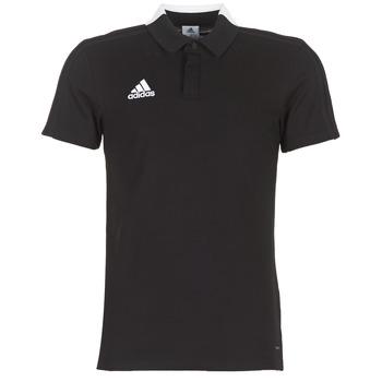 vaatteet Miehet Lyhythihainen poolopaita adidas Performance CON18 CO POLO Black