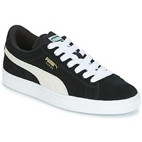 kengät Lapset Matalavartiset tennarit Puma SUEDE JR Black / White