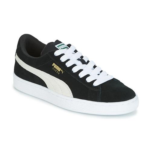 kengät Lapset Matalavartiset tennarit Puma SUEDE JR Black / White