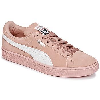 kengät Naiset Matalavartiset tennarit Puma SUEDE CLASSIC W'S Pink / White