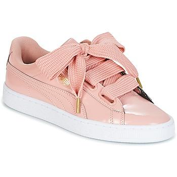 kengät Naiset Matalavartiset tennarit Puma BASKET HEART PATENT W'S Pink