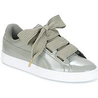kengät Naiset Matalavartiset tennarit Puma BASKET HEART PATENT W'S Grey