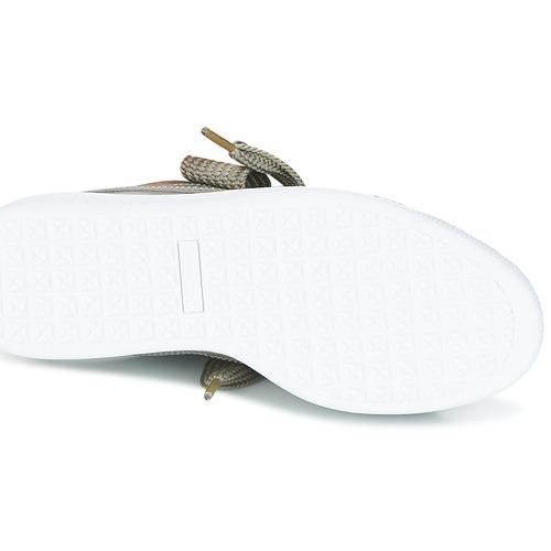 Puma Basket Heart Patent W's Grey - Ilmainen Toimitus- Kengät Matalavartiset Tennarit Naiset 58