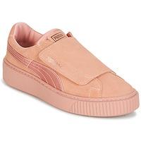 kengät Naiset Matalavartiset tennarit Puma PLATFORMSTRAP SATIN EP W'S Pink