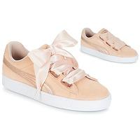 kengät Naiset Matalavartiset tennarit Puma SUEDE HEART LUNALUX W'S Pink
