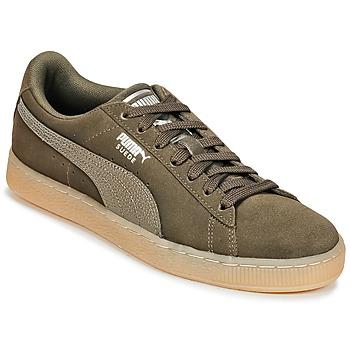kengät Naiset Matalavartiset tennarit Puma SUEDE CLASSIC BUBBLE W'S Black / Grey