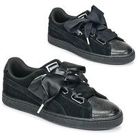 kengät Naiset Matalavartiset tennarit Puma SUEDE HEART BUBBLE W'S Black
