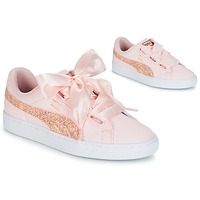 kengät Naiset Matalavartiset tennarit Puma BASKET HEART CANVAS W'S Pink