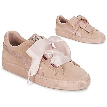 on sale be64b ec127 kengät Naiset Matalavartiset tennarit Puma W SUEDE HEART EP Pink