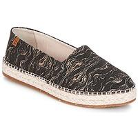 kengät Naiset Espadrillot El Naturalista SEAWEED CANVAS Black / Grey