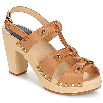 kengät Naiset Sandaalit ja avokkaat Swedish hasbeens BRASSY Camel