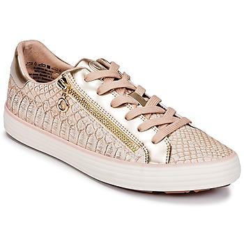 kengät Naiset Matalavartiset tennarit S.Oliver BOOMBO Pink / Kulta