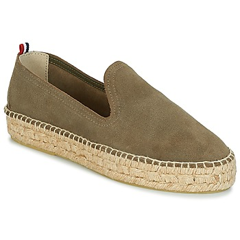 kengät Naiset Espadrillot 1789 Cala SLIP ON DOUBLE LEATHER Kaki