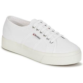 kengät Naiset Matalavartiset tennarit Superga 2730 COTU Valkoinen