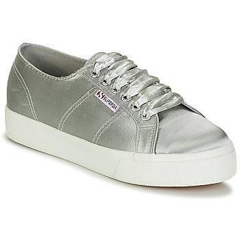 kengät Naiset Matalavartiset tennarit Superga 2730 SATIN W Grey