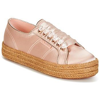 kengät Naiset Matalavartiset tennarit Superga 2730 SATIN COTMETROPE W Pink