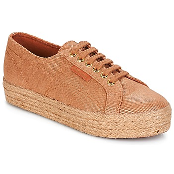 kengät Naiset Matalavartiset tennarit Superga 2730 LAME DEGRADE W Brown / Pink / Kulta