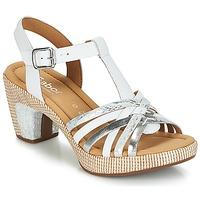 kengät Naiset Sandaalit ja avokkaat Gabor MASTIAR White / Hopea