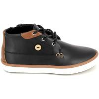 kengät Lapset Korkeavartiset tennarit Faguo Wattle Leather BB Noir Musta
