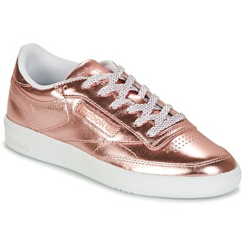 kengät Naiset Matalavartiset tennarit Reebok Classic CLUB C 85 S SHINE Pink / Metallinen