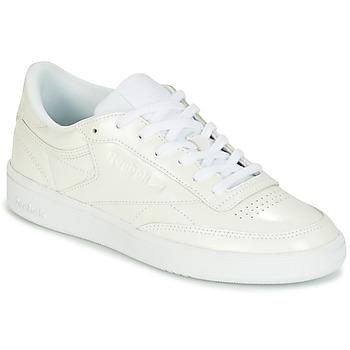 kengät Naiset Matalavartiset tennarit Reebok Classic CLUB C 85 PATENT White