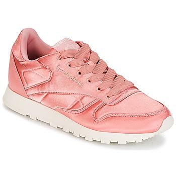kengät Naiset Matalavartiset tennarit Reebok Classic CLASSIC LEATHER SATIN Pink