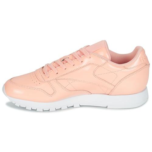 Reebok Classic Leather Patent Pink - Ilmainen Toimitus- Kengät Matalavartiset Tennarit Naiset 71