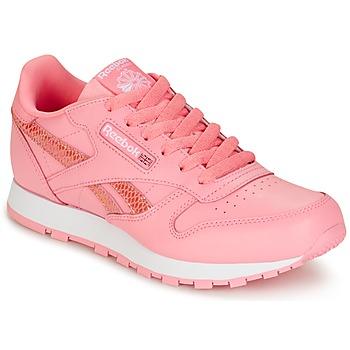 kengät Tytöt Matalavartiset tennarit Reebok Classic CLASSIC LEATHER SPRING Pink