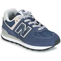 kengät Lapset Matalavartiset tennarit New Balance 574 Laivastonsininen