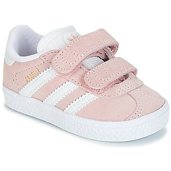 kengät Tytöt Matalavartiset tennarit adidas Originals GAZELLE CF I Vaaleanpunainen